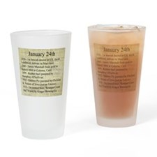 January 24th Drinking Glass