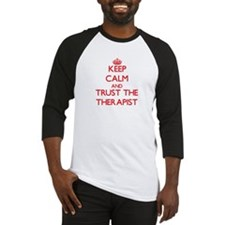Keep Calm and Trust the Therapist Baseball Jersey