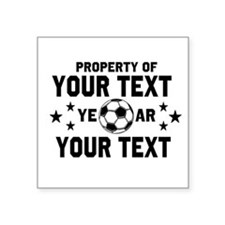 Personalized Property of Soccer Sticker