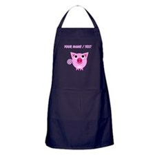 Custom Cartoon Pig Apron (dark)