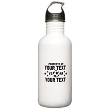Personalized Property of Soccer Water Bottle