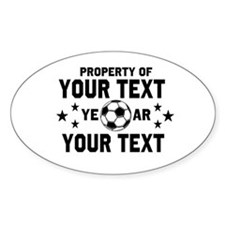 Personalized Property of Soccer Decal