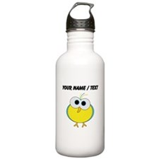 Custom Cartoon Tropical Bird Water Bottle