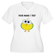 Custom Cartoon Tropical Bird Plus Size T-Shirt