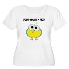 Custom Cartoon Tropical Bird Plus Size T-Shirt