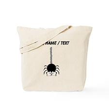 Custom Cartoon Spider Spinning Web Tote Bag