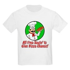 Give Pizza Chance Kids T-Shirt