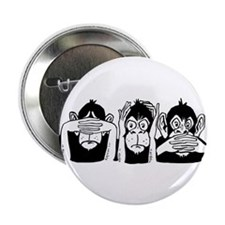 "Chimp Feet 2.25"" Button (10 pack)"