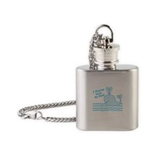 Cute Blue Whale Flask Necklace