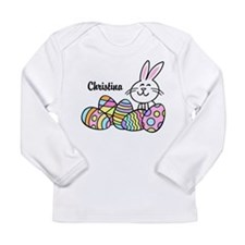 Personalized Bunny And Long Sleeve Infant T-Shirt