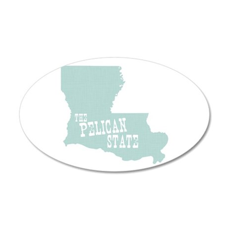 Louisiana 35x21 Oval Wall Decal