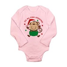 Monkey Boy 1st Long Sleeve Infant Bodysuit