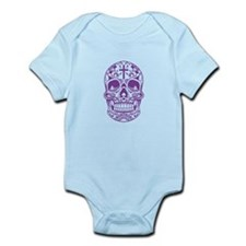 SugarSkull Purple-01 Body Suit