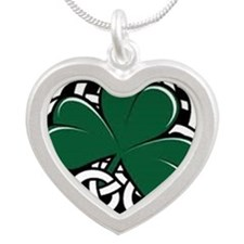 Clover Silver Heart Necklace