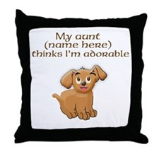Fill in aunts name Throw Pillow