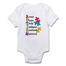 Autism Acrostic Infant Bodysuit