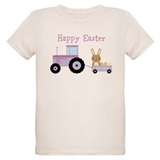 Cute Purple Tractor Bunny T-Shirt