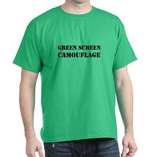 Green Screen Camouflage Dark Dark T-Shirt