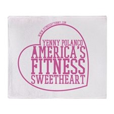 Americas Fitness Sweetheart - Pink Throw Blanket
