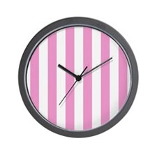 Candy Stripe Pink Wall Clock
