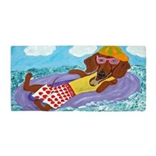 Dachshund Lazy Lifeguard Beach Towel