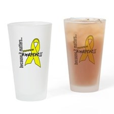 Awareness 1 Endometriosis Drinking Glass
