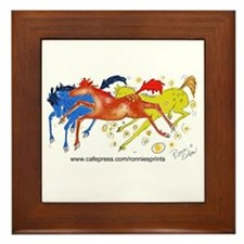 Unique Horses Framed Tile