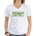SurvivalBlog Women's V-Neck T-Shirt