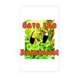 Save the Rain Forest Rectangle Stickers