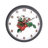 Strawberries! Wall Clock
