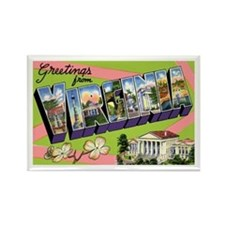 Virginia Greetings Rectangle Magnet