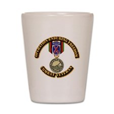 Operation Enduring Freedom - 10th Mtn D Shot Glass