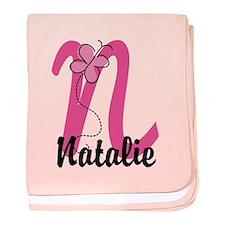 Personalized Monogram Letter N baby blanket
