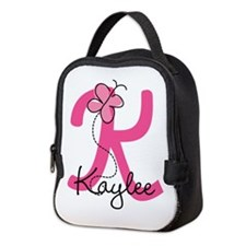 Personalized Monogram Letter K Neoprene Lunch Bag