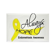 Always Hope Endometriosis Rectangle Magnet