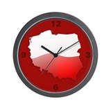 &quot;Poland Bubble Map&quot; Wall Clock