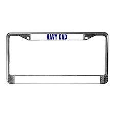 Unique Navy dad License Plate Frame