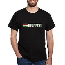 Budapest, Hungary Flag (Dark) T-Shirt