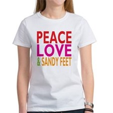 Peace, Love Sandy Feet T-Shirt