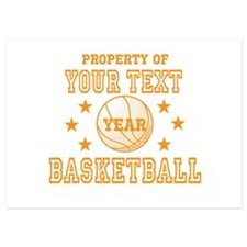 Personalized Property of Basketball Invitations