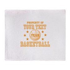Personalized Property of Basketball Throw Blanket