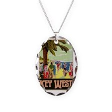 Key West Florida Necklace Oval Charm