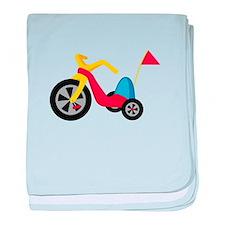 Big Wheel baby blanket