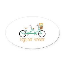 Together Forever Oval Car Magnet