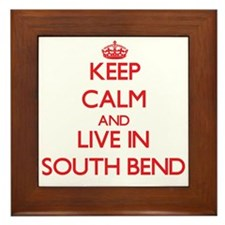 Keep Calm and Live in South Bend Framed Tile