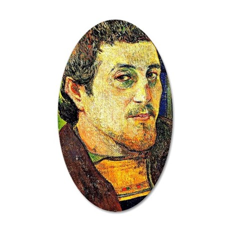 Gauguin - Self-Portrait at L 35x21 Oval Wall Decal