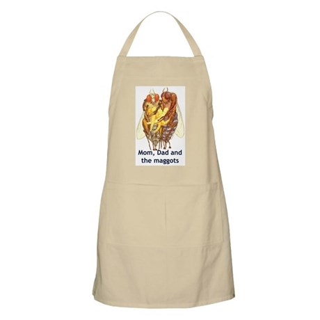 Mom, Dad and the Maggots BBQ Apron
