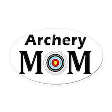 Archery Mom Oval Oval Car Magnet