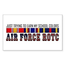 Earn My School Colors Rectangle Bumper Stickers