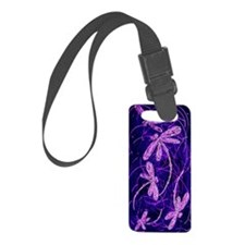 Dragonfly Disco Luggage Tag